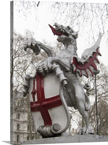 Griffin dragon statue that mark the boundary of the City of London