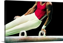 Gymnast on the Pommel Horse