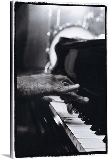 Hands playing piano keys Photo Canvas Print | Great Big Canvas