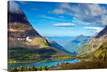 Hidden Lake Overlook at morning Glacier National Park.
