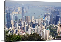 Hong Kong cityscape viewed from Victoria Peak, Hong Kong, China