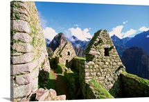 Incan ruins at Machu Picchu in the Andes Mountains, Peru