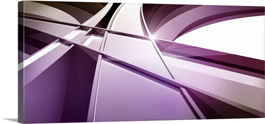 Intersecting three-dimensional lines in purple