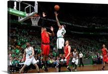 Isaiah Thomas of the Boston Celtics shoots a layup