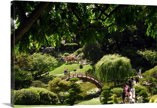 Japanese Garden Los Angeles California Usa Photo Canvas Print Great Big Canvas