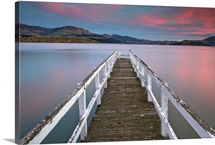 Jetty in Lyttelton Harbour, Christchurch, New Zealand.