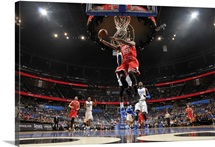 Jimmy Butler of the Chicago Bulls shoots against the Orlando Magic