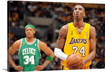 Kobe Bryant of the Los Angeles Lakers shoots a free throw