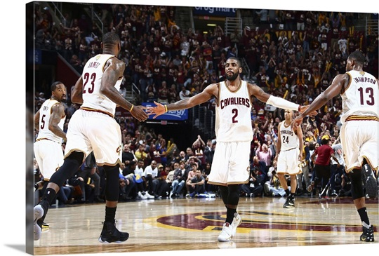 Kyrie Irving Lebron James And Tristan Thompson Game 3 Nba Finals 2016 Photo Canvas