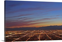 Las Vegas as seen from the top of Frenchman Mountain, the eastern High Point.