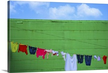 Laundry drying in La Boca, Buenos Aires, Argentina