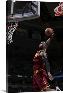 LeBron James 23 of the Cleveland Cavaliers goes up for a dunk