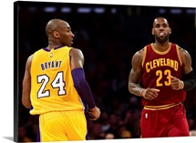 LeBron James of the Cleveland Cavaliers and Kobe Bryant of the Los Angeles Lakers