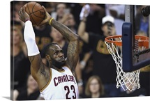 LeBron James of the Cleveland Cavaliers dunks the ball in Game Six
