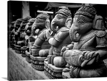 Lord Ganesha sculptures.