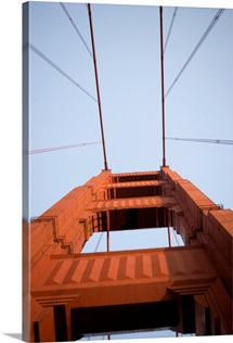 Low angle view of a bridge, Golden Gate Bridge, San Francisco, California