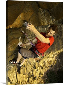 Male Rockclimber
