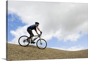 man riding mountain bike photo canvas print great big canvas. Black Bedroom Furniture Sets. Home Design Ideas