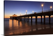 Manhattan Beach Pier at sunset, California