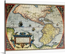 Map of the Americas by Ortelius