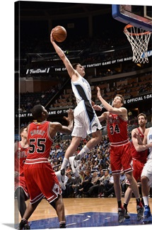 Mario Hezonja of the Orlando Magic goes up for a dunk