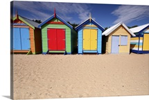 Melbourne beach huts in Australia.
