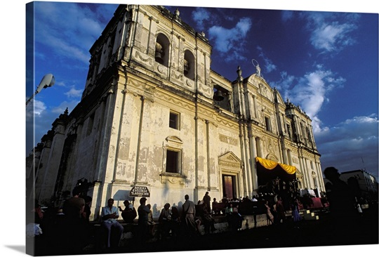 Metropolitana Cathedral. Baroque Spanish colonial architecture, Nicaragua