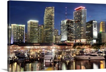Miami skyline city in Florida.