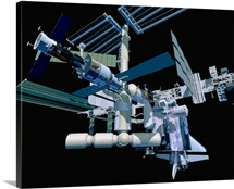 Model of an International Space Station