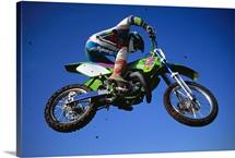 Motocross rider in mid air