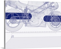 Motor bike blueprint