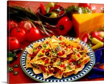Nachos with ingredients