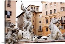 Neptune's Fountain, Piazza Navona, Rome, Italy