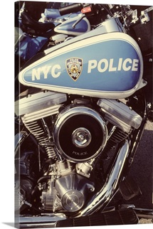 New York City police motorcycle
