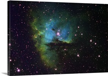 NGC 281 Pacman Nebula in Cassiopeia, imaged in narrowband Hydrogen Alpha
