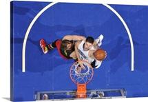 Nikola Vucevic of the Orlando Magic shoots the ball against the Atlanta Hawks
