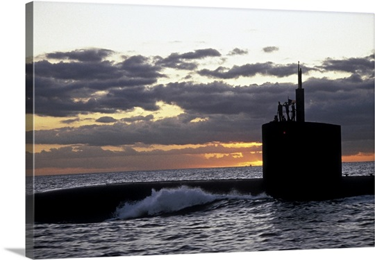 Nuclear submarine USS San Francisco en route from Pearl Harbor