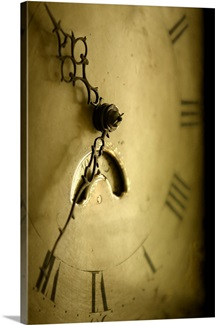 Old Antique Clock Face, Sepia Toned