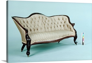 Old fashioned couch photo canvas print great big canvas for Old fashioned couch