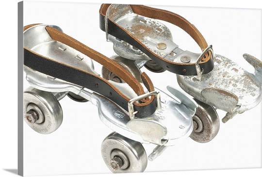 old-fashioned roller skates