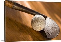 Old Golf Ball and Iron