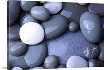 Pebbles on beach, Hurlestone Point, Somerset, England