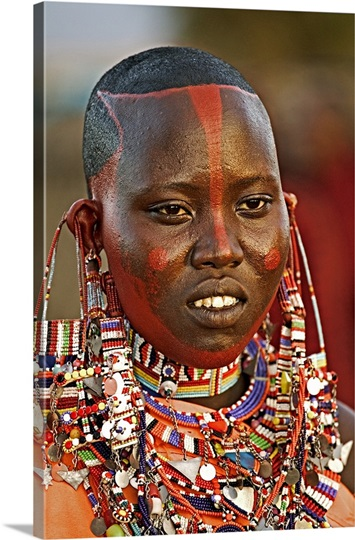 Popular necklaces worn by Maasai women, made up of rows of beads