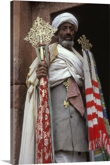 Priest of Coptic religion, Lalibela, Ethiopia