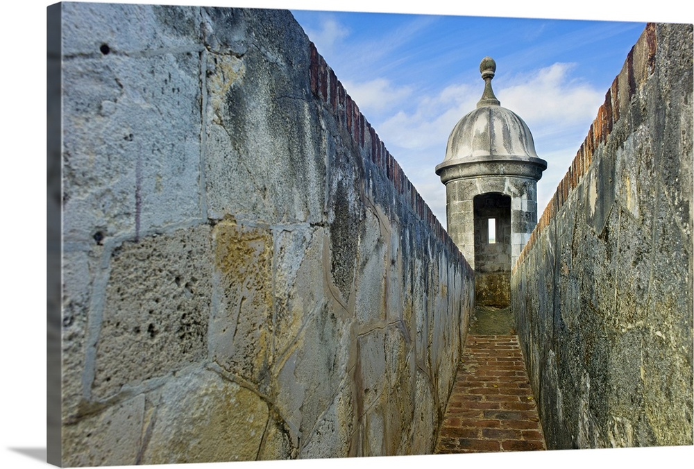 Old San Juan Wall Decor : Premium thick wrap canvas wall art entitled puerto rico