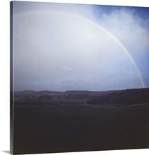 Rainbow in a cloudy sky
