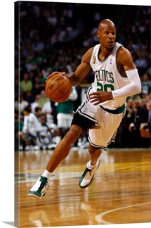 Ray Allen of the Boston Celtics drives to the basket in Game Six