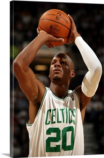 Ray Allen of the Boston Celtics shoots a free throw