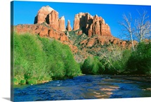 Red Rock formations over river, Sedona, Arizona, USA