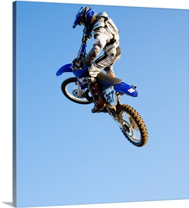 rider jumping dirt bike photo canvas print great big canvas. Black Bedroom Furniture Sets. Home Design Ideas
